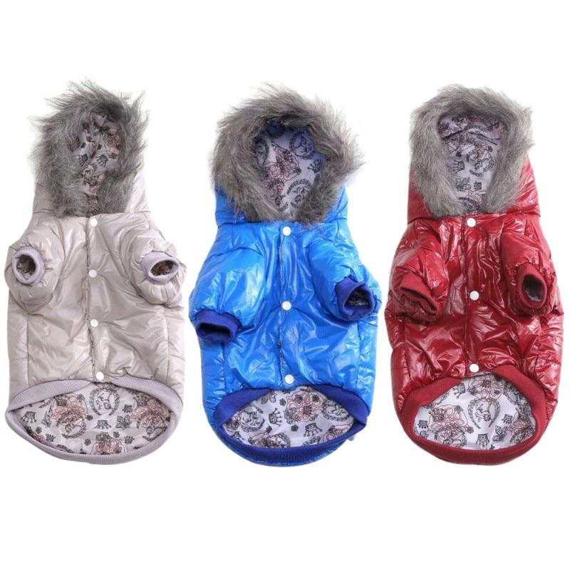 Водонепроницаемая теплая куртка для собак одежда с капюшоном щенков чихуахуа