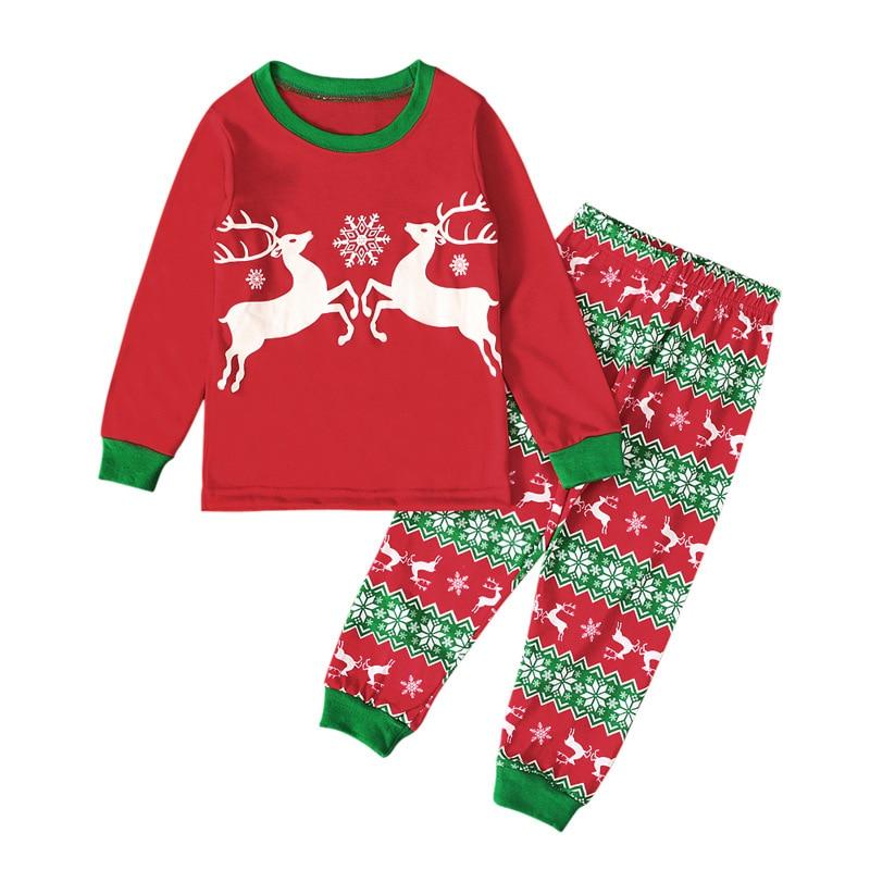 Новый 2021 осень Милая Рождественская одежда для отдыха и нарисованным лосем для маленьких девочек; Домашняя одежда с принтом Детские костюмы От 1 до 6 лет носки для маленьких мальчиков, комплект|Комплекты пижам| | АлиЭкспресс