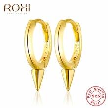 ROXI 100% 925 Rivets en argent Sterling petites boucles doreilles pour femmes hommes Style Punk Huggie bijoux petite hélice Cartilage boucles doreilles
