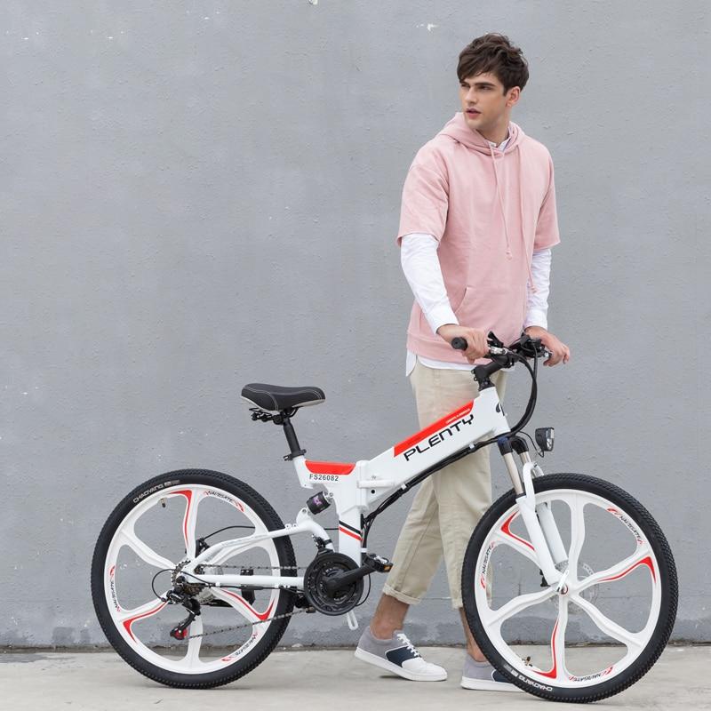 Biciclas plegables eléctricas para adultos, bicicleta de montaña de 24 pulgadas y...