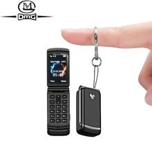 Небольшие мини раскладные мобильные телефоны русская кнопка телефон Bluetooth dialer раскладушка разблокированный дешевый сотовый телефон без камеры