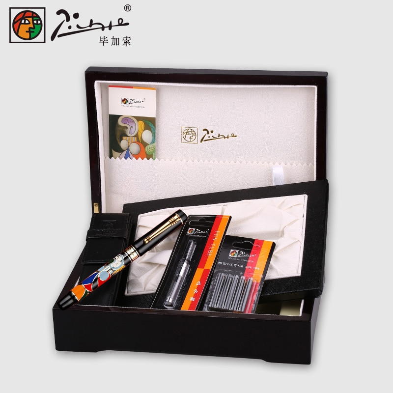 Pimio Fountain Pen Metal 14K Gold caneta 0.7MM Student Gift Boxed Calligraphy Pen Metal Business Gift Office Stationery Writing