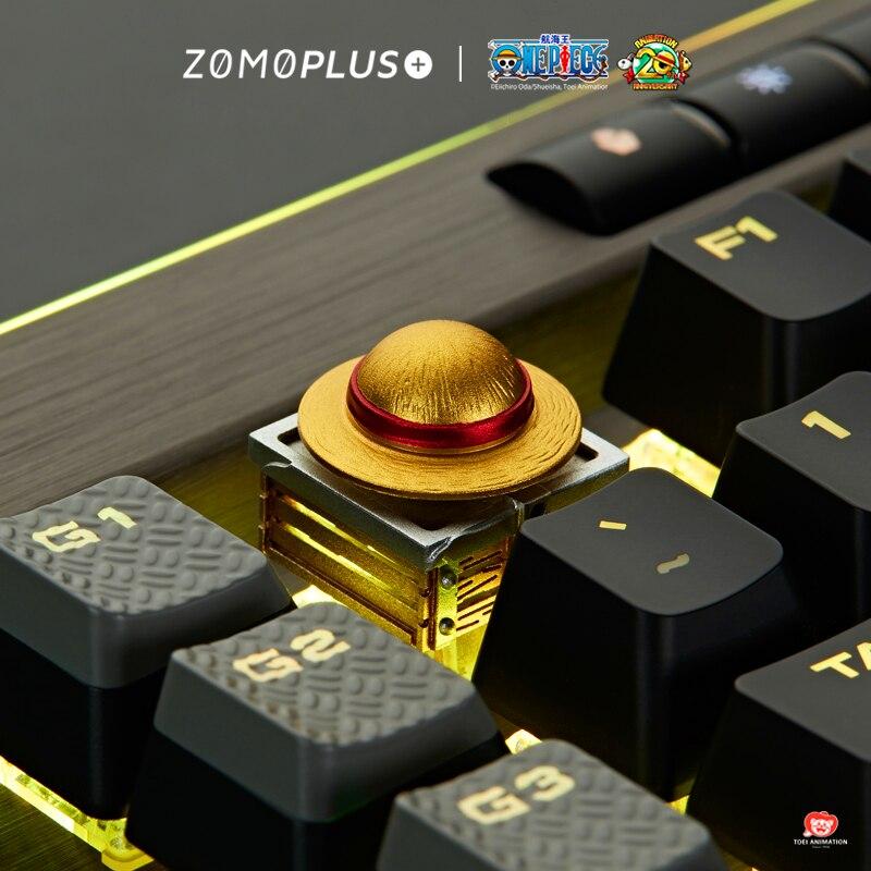 Teclado mecánico con tapa para llave, teclado con personalidad, una pieza Chopper Luffy, llavero giratorio Cherry MX axis, teclas de aleación de aluminio, M33
