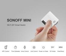 Sonoff mini wifi inteligente interruptor de controle remoto temporizador programação de voz power-on modo diy em dois sentidos interruptor inteligente wi fi casa inteligente