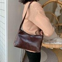 Однотонные сумки на плечо, женская кожаная винтажная сумка на молнии, сумка-мессенджер, стильная женская сумка, ретро сумки-тоуты, кошелек и ...