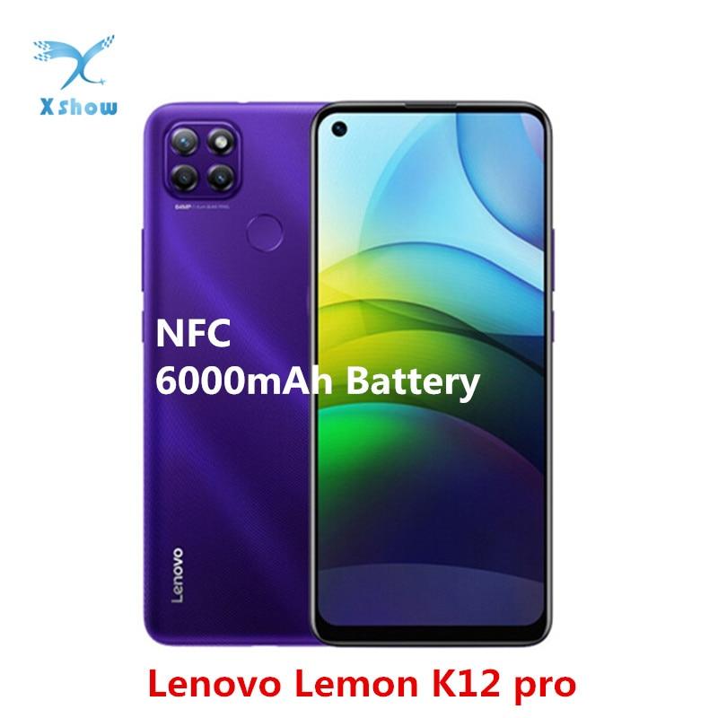 Lenovo lemon k12 pro smartphone 6.8 polegada 4gb ram 64gb rom android 10 snapdragon 662 octa núcleo 6000mah 64mp câmera nfc celulares