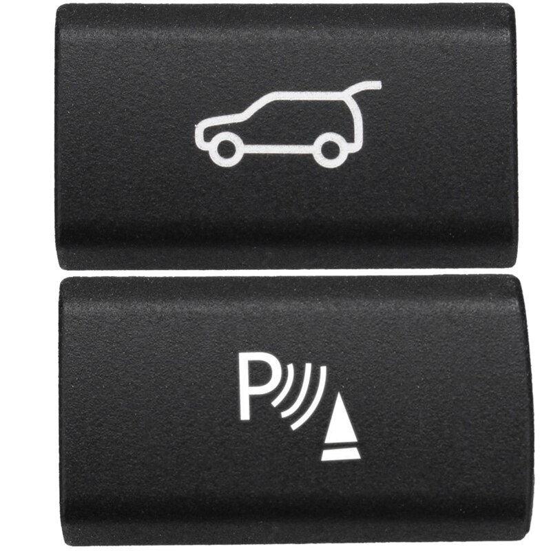2 Pcs Switch Button Cover for BMW X5 E70 2006-13 X6 E71 2008-14 : 1 Pcs Parking Radar Sensor & 1 Psc Tailgate Rear Trunk