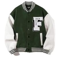 hip hop pu leather baseball coat men letter embroidery streetwear harajuku college patchwork block bomber couples varsity jacket