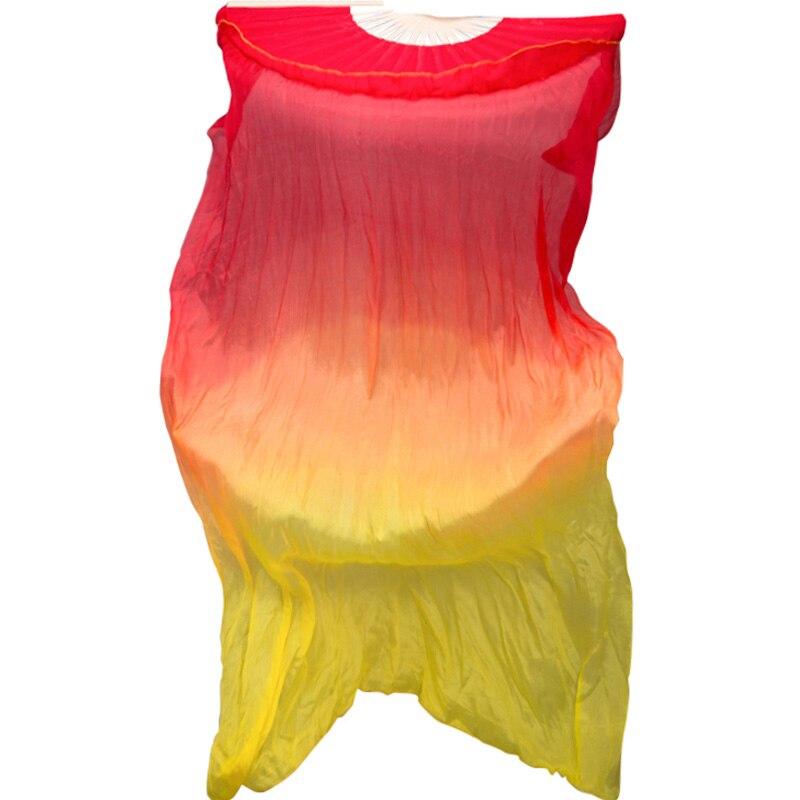 Abanico de baile colorido de doble cara gradiente de Color alargador de...