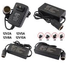 Car Cigar Lighter Transformer 110V 220V to 12V Car Adapter Converter 12V 2A 5A 8A 10A Power Supply C