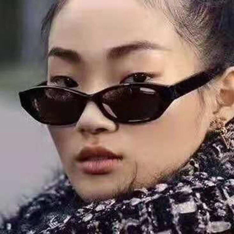 2021 New Trendy Metal Hinge Cheap Brand Cat Eye Sunglasses Women Vintage Cateye Oval Glasses for Men
