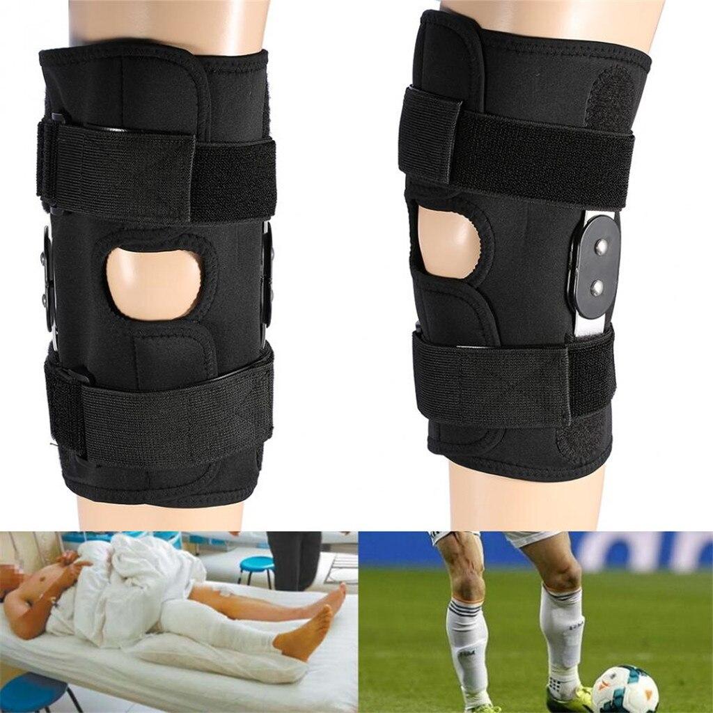 1 par de rodilleras deportivas cinturón mágico soporte de presión rodilla Junta fija rodilleras L-XL