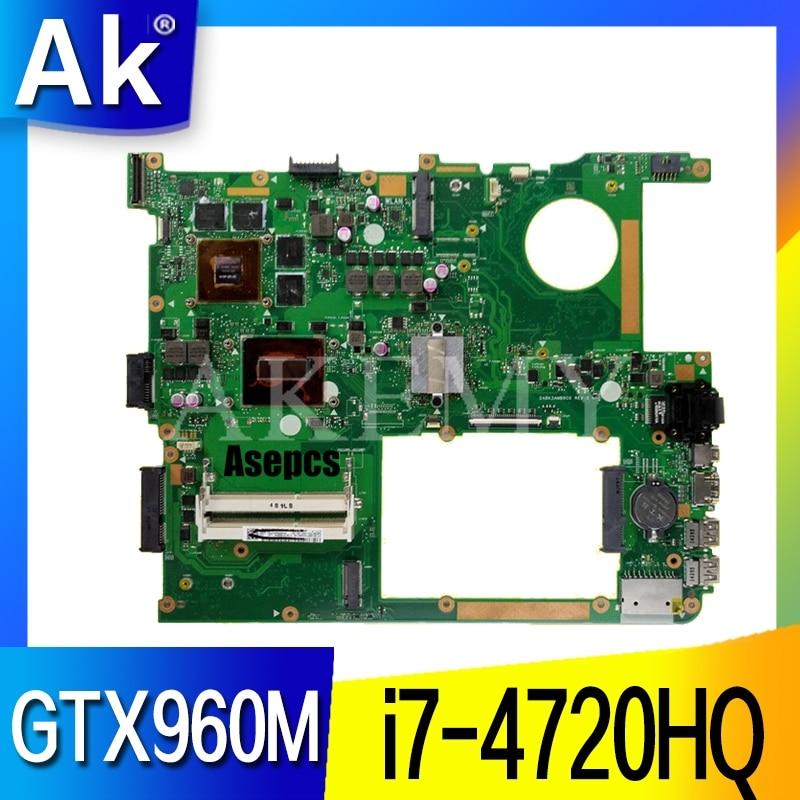 Placa base AK G771JW con i7-4720HQ GTX960M/GTX950M para ASUS ROG G771JM G771JK G771J G771 placa base para portátil