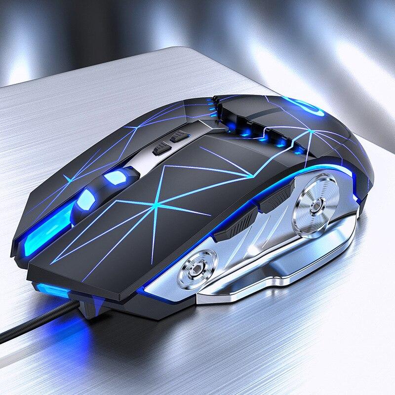 قابل للتعديل صامت ماوس بصري LED USB فأرة سلكية للكمبيوتر المحمول لعبة الفئران للاعبين مكتب المنزل