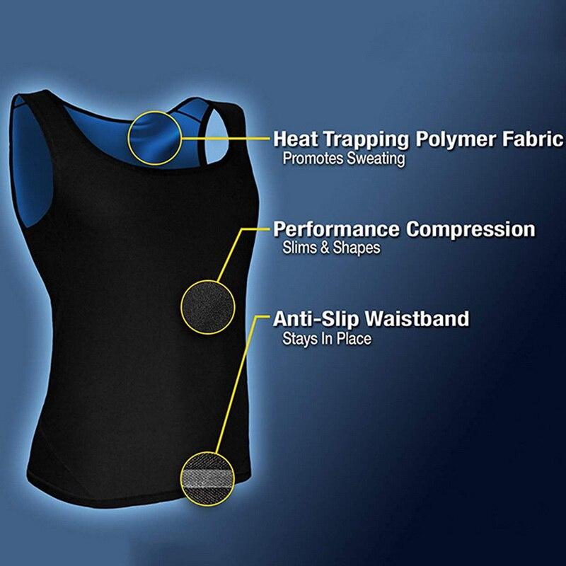 Men Neoprene Sweat Sauna Vest Body Shapers Waist Trainer Slimming Shapewear Shaper Corset For Women
