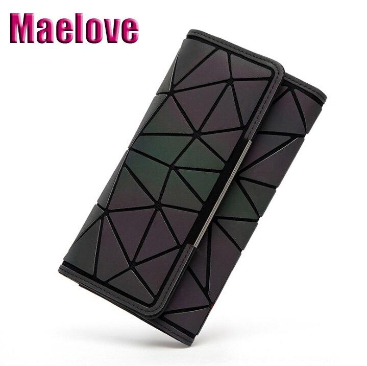 Женский кошелек Maelove, разноцветный/светящийся, геометрический бумажник с голограммой