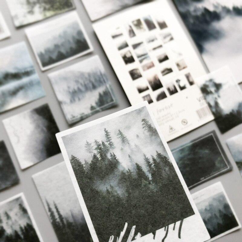 50-unids-pack-bosque-de-niebla-calcomania-decorativa-para-diario-de-articulos-de-papeleria-con-etiquetas-deco-foto-pegatinas-para-album-escamas-scrapbooking-2021new