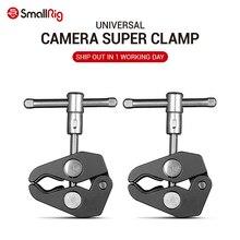 Pince à pince double crabe en alliage daluminium petit modèle pince Super pour appareil photo à bras magique pour moniteur LCD DSLR