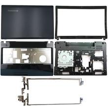 Nouveau pour Lenovo IdeaPad G580 G585 couverture arrière pour ordinateur portable/lunette avant/charnières/repose-pied/boîtier inférieur AP0N2000410 AP0N2000324 AP0N2000100