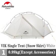 Naturehike Vik 15D Camping Tent 930G Ultralight Enkele Persoon Draagbare Sneeuw Reizen Tent 4-Seizoen Met Mat Wandelen apparatuur
