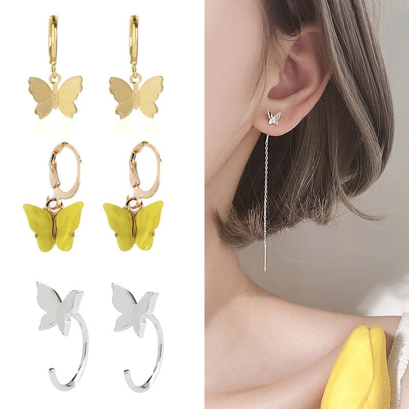 Женские-маленькие-серьги-гвоздики-в-виде-бабочек