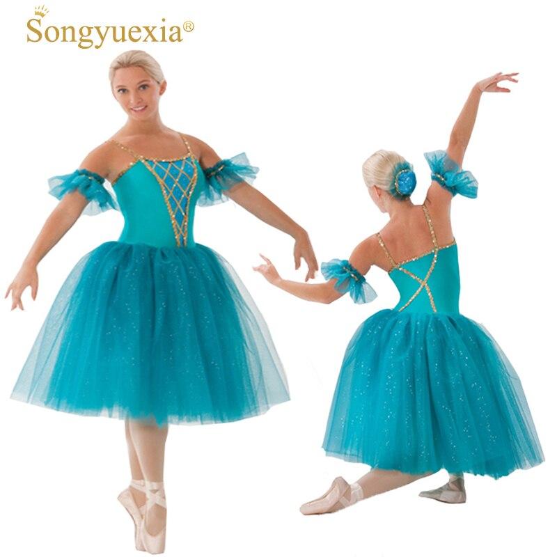 Songyuexia-فستان باليه احترافي للنساء ، تنورة توتو منفوشة ، للبالغين ، بحيرة البجعة