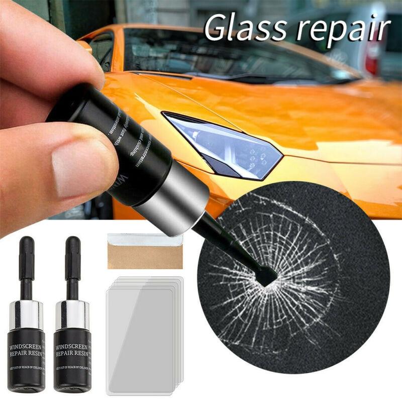 2 uds, Kit de reparación de pantalla de teléfono y ventana de coche, utensilio de reparación de grietas y arañazos, Kit de reparación de cristal agrietado, Nano líquido de reparación de parabrisas DIY
