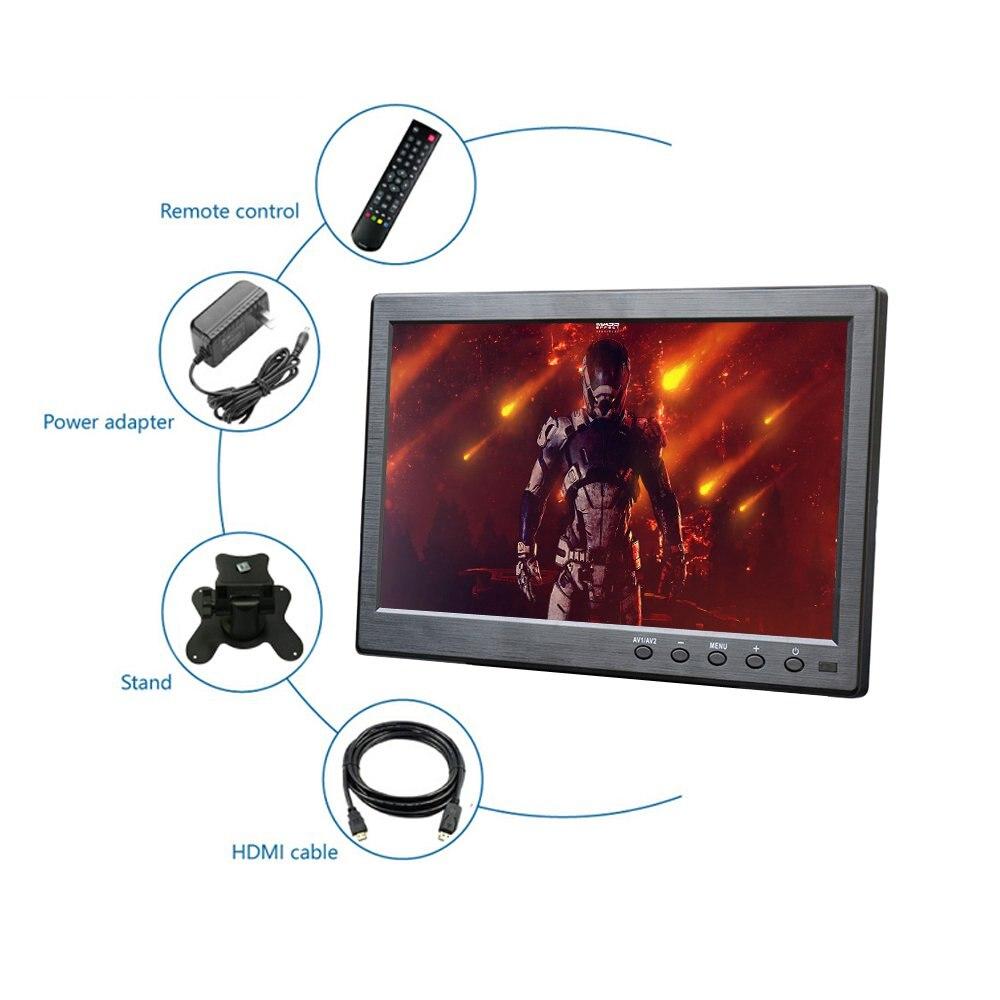 Novo 10.1 polegada Display IPS 1920*1200 HD Portátil Do Monitor VGA HDMI USB BNC interface para PC Gaming PS3 /PS4 com Bulid em Alto-Falante