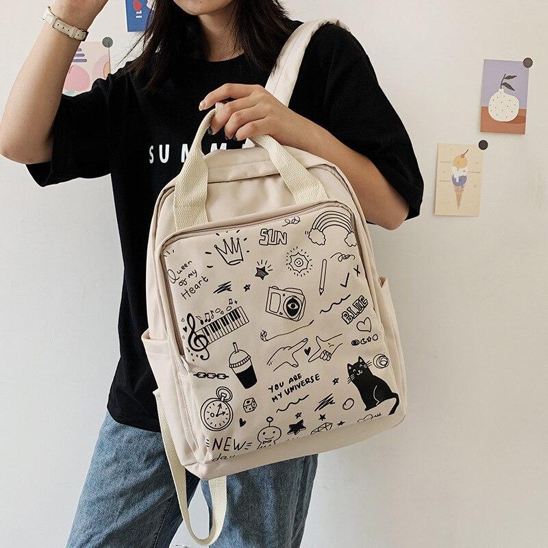 سعة كبيرة المرأة على ظهره حقيبة مدرسية على الموضة حقيبة ظهر للفتيات الإناث في المدرسة الثانوية طالب كلية الإناث Mochila