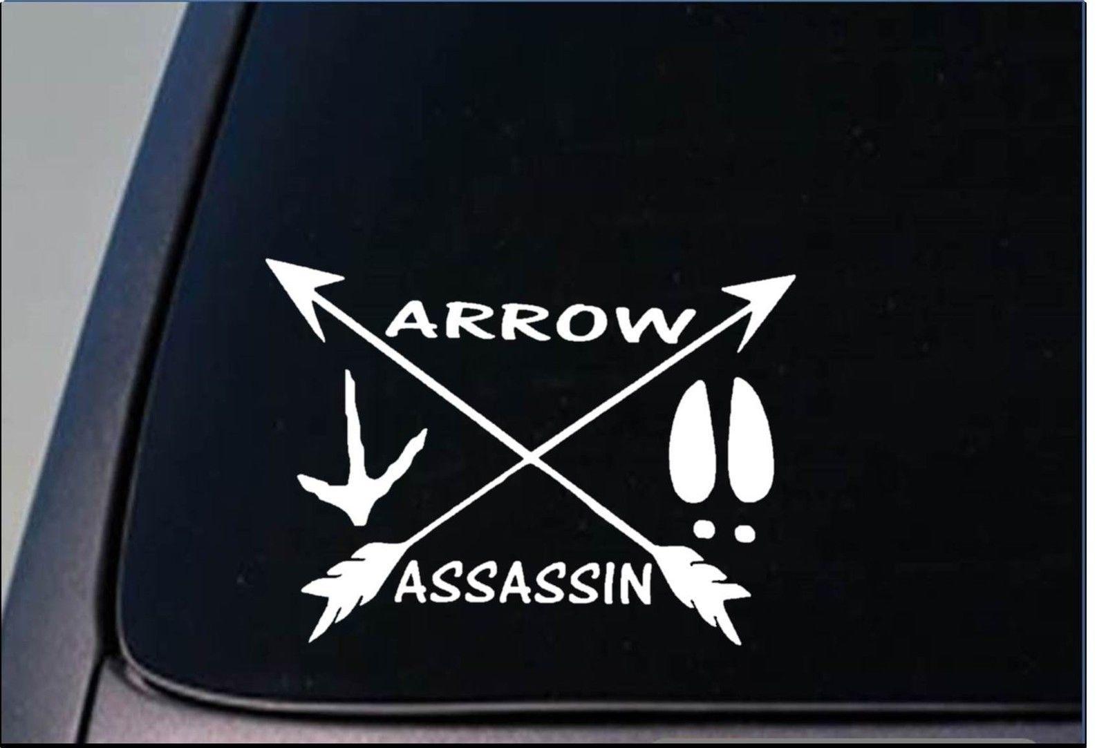 "Flecha Assassin pegatina 8 "", vinilo arco de caza, deerstand, pegatina de ordenador de Turquía"