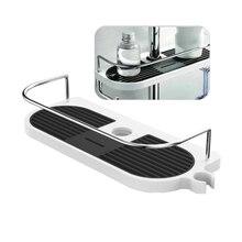 Barra de baño soporte de almacenamiento de ducha organizador estantes de baño bandeja para champú de ducha soporte de cabezal de ducha de un nivel extraíble