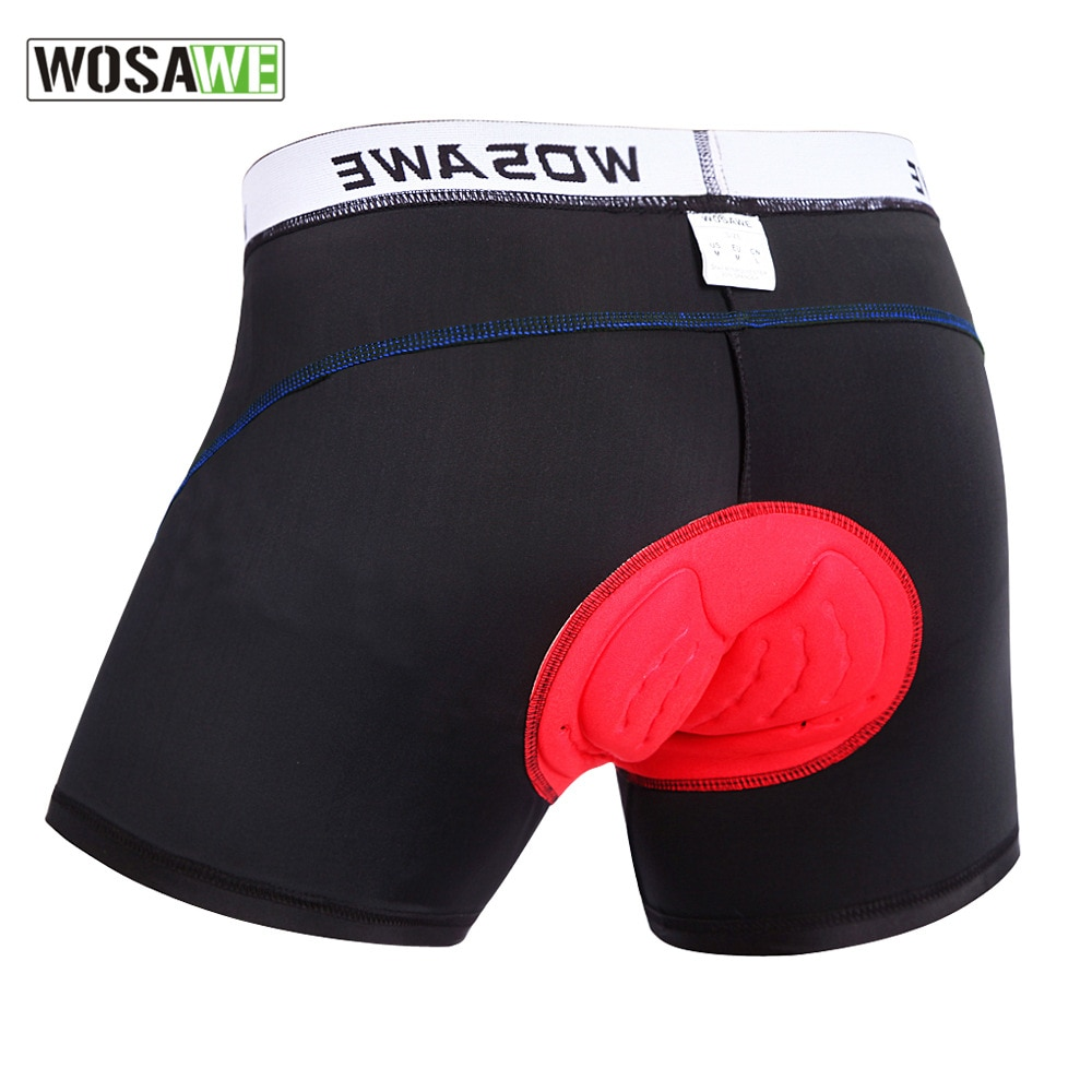 WOSAWE Cycling Motorbike Underwear 3D Padded Cycling Shorts Shockproof Road MTB Bike Bicycle Shorts Men Compression Tights Short siilenyond 100% lycra cycling tights mountain bicycle pants coolmax 3d gel padded cycling tight mtb bicycle pants bike trousers