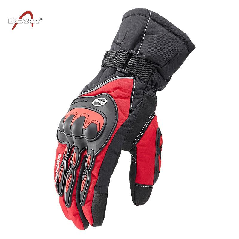 VEMAR Motorcycle Gloves 100% Waterproof Touch Screen Warm Moto Glove Men Protective Moto Luvas Guantes Motocross Gloves enlarge