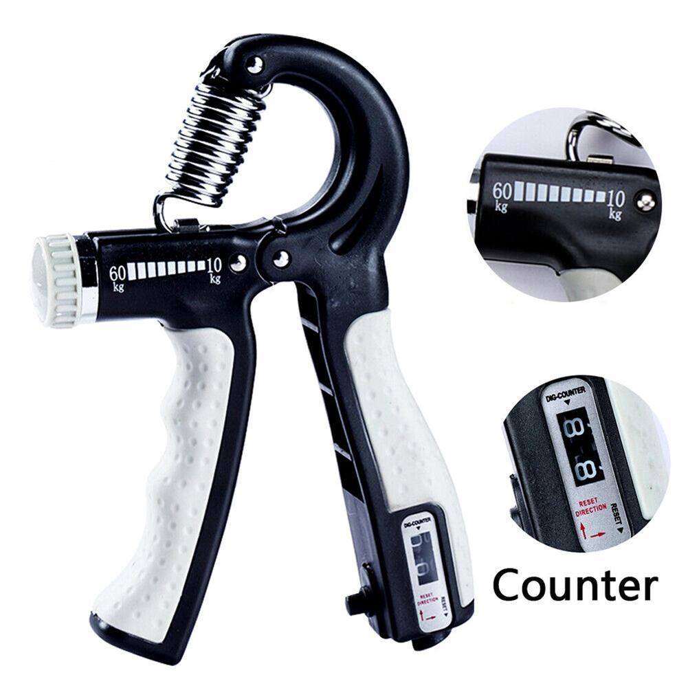 Agarre de mano ajustable en forma de R, pinza de ejercicios de fuerza con contador, resistente al agua, herramienta de ejercicio
