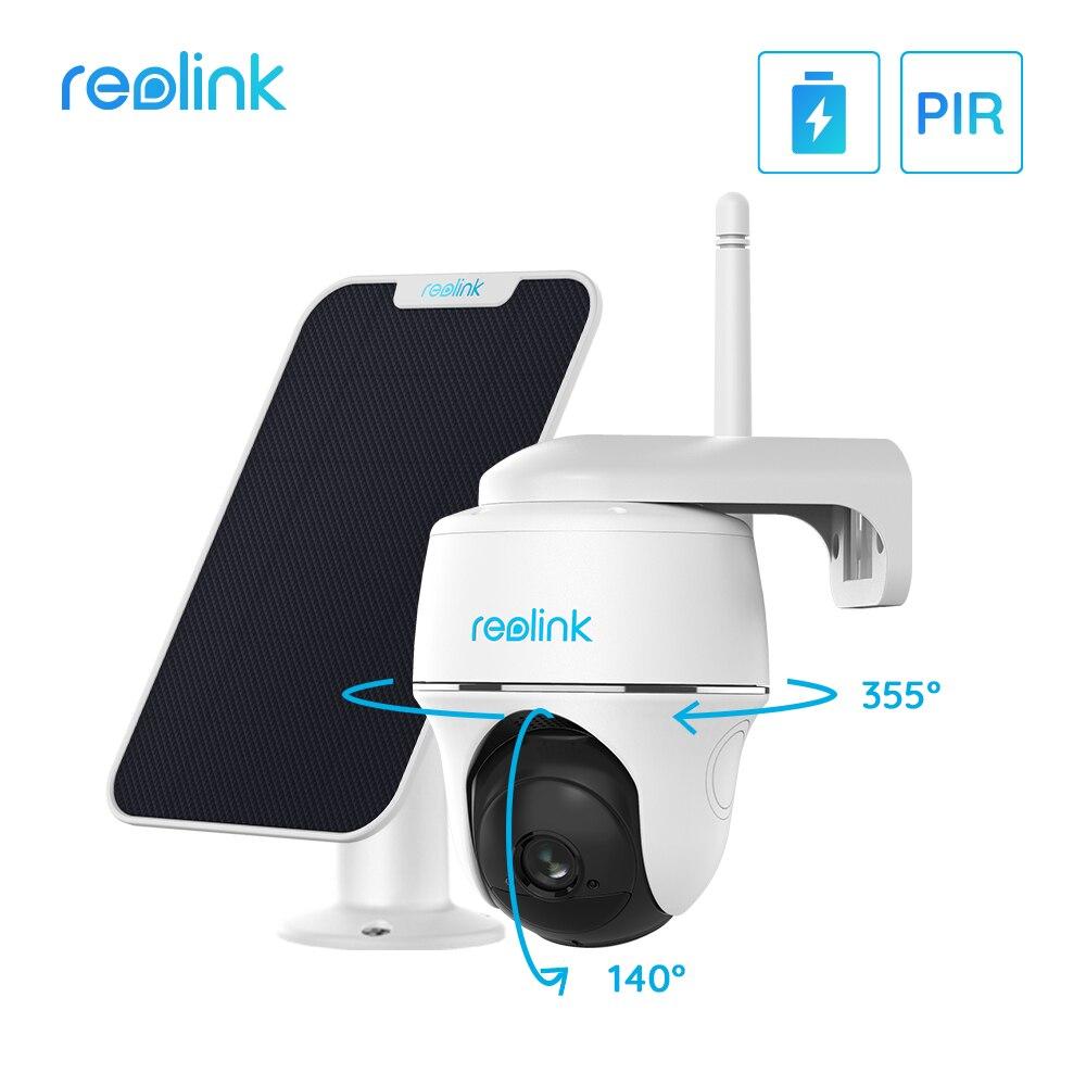 Reolink Argus PT w/ Solar Panel – Wireless Pan Tilt Solar Powered WiFi Security Camera System