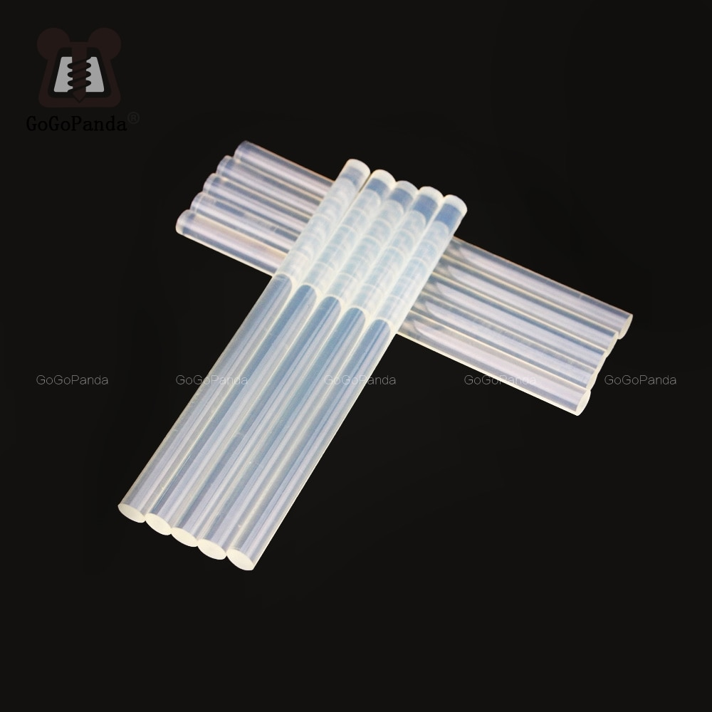 Free shipping (10PCS/Lot) Non-Toxic Transparent 11mm X190mm Hot Melt Glue Sticks for DIY