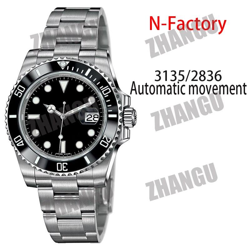 Masculino Moda Relógio Mecânico Submariner Noob 114060 Cerâmica Case 1:1 Melhor 904l Aço Inoxidável Pulseira Sa3135 V11 Versão Aaa