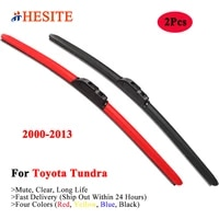 hesite colorful windscreen wiper blades for toyota tundra k3 k4 k5 k6 2007 2008 2012 2013 car exterior accessories yellow wipers