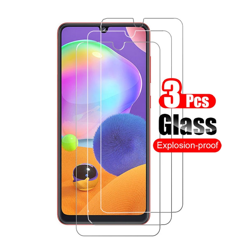 3pcs for samsung galaxy a31 tempered glass screen protector hd on for samsung galaxi a31 film anti-scratch toughened glass 9h