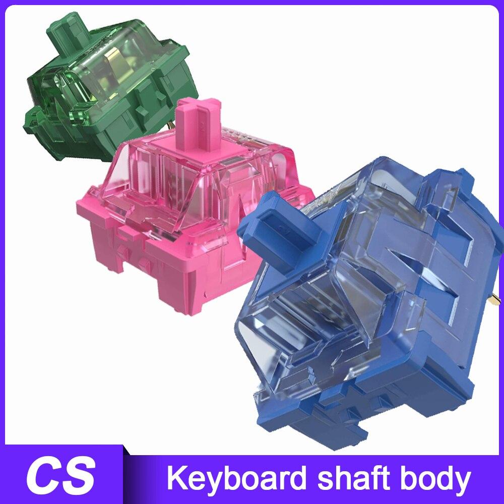 45 قطعة CS التبديل مجموعة الوردي الأحمر شاي ماتشا أخضر المحيط الأزرق 3 دبوس اللمس مفاتيح ل MX لوحة المفاتيح الميكانيكية ملحق
