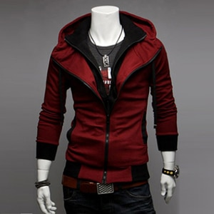 2021 New Autumn Men's Jacket  Cultivate Paragraph Color Matching Jacket Male's Hooded Coat