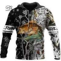 plstar cosmos newfashion animal walleye fishing fisher camo funny outwear tracksuit 3dprint harajuku casual hoodies menwomen a1