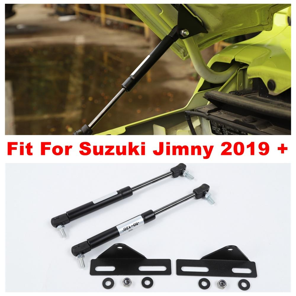 Front Engine Bonnet Hood Shock Lift Struts Bar Support Rod Arm Gas Cover Trim Fit For Suzuki Jimny 2019 2020