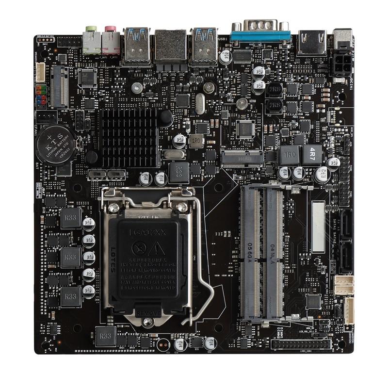 اللوحة الأم H410Intel M.2 SATA ، الجيل العاشر ، وحدة تحكم صناعية صغيرة LGA1200 الكل في واحد ، لوحة أم ITX رفيعة