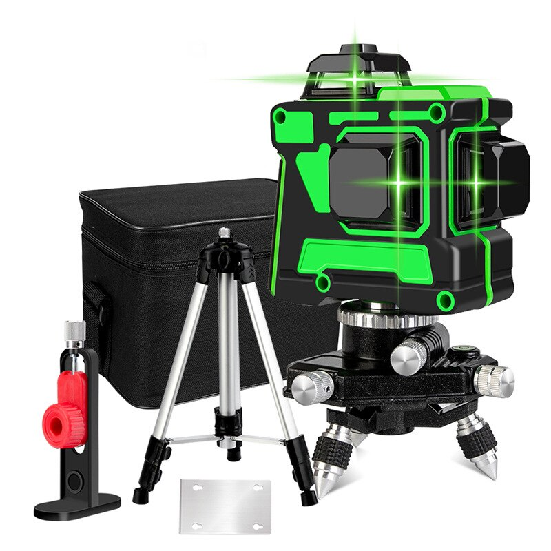 NVZHANGCHEN 12 Lines 3D Laser Level Self-Leveling 360 Degre Horizontal And Vertical Cross Super Powerful Green Laser Beam Line