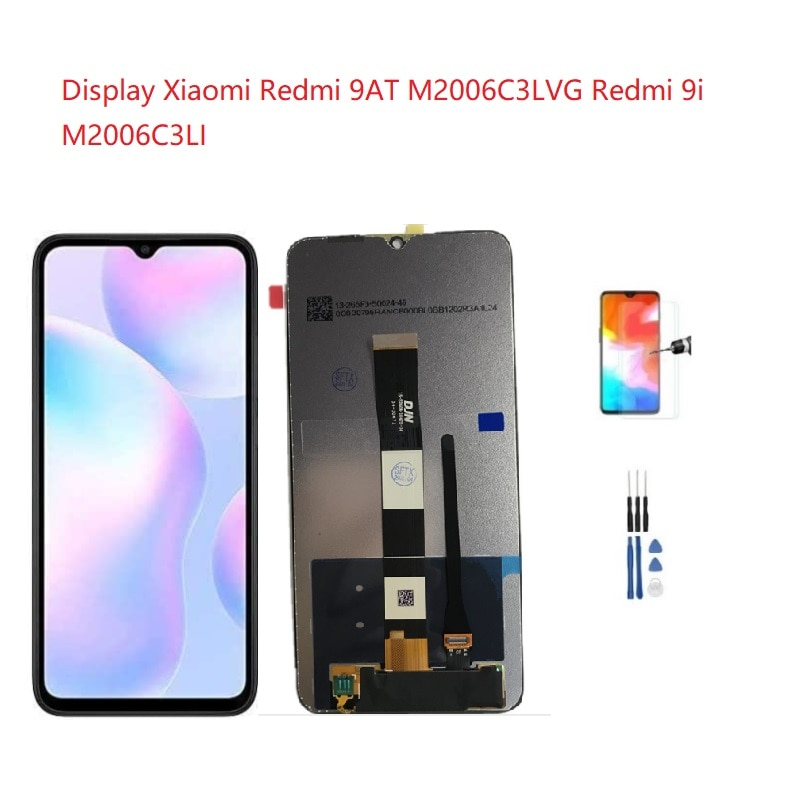 استبدال للعرض شاومي Redmi 9AT M2006C3LVG LCD تعمل باللمس محول الأرقام الجمعية Redmi 9i M2006C3LI