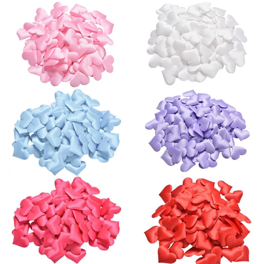 100 pcs/lot 2cm éponge pétale amour coeur confettis jeter des pétales pour mariage romantique mariage décor saint valentin bricolage fournitures