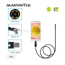 Endoscope Android USB Endoscope Camera 7mm 2 in 1 PC Android Phone Endoscope Pipe USB Endoscope Inspection Mini Camera 1/2/5/10m