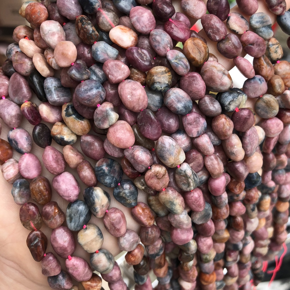 Natural Stone Rubys Sapphires Beaded Irregular Loose Spacer Beads for Jewelry Making DIY Necklace Bracelet Accessories Gift 14''  - buy with discount