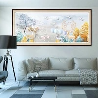 5d diamond embroidery deer full drill round square tree diamond painting animals swan cross stitch mosaic crafts home decoration
